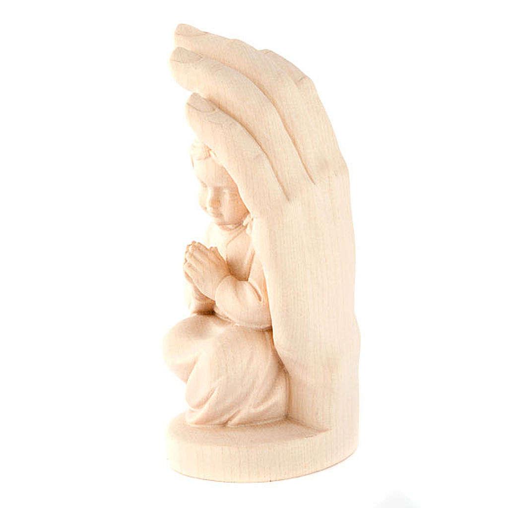 Mano di Dio con bimba legno 4