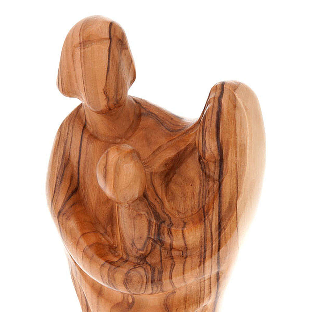 Holy Family statue in olive wood 4