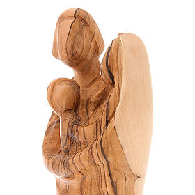 Holy Family statue in olive wood s2