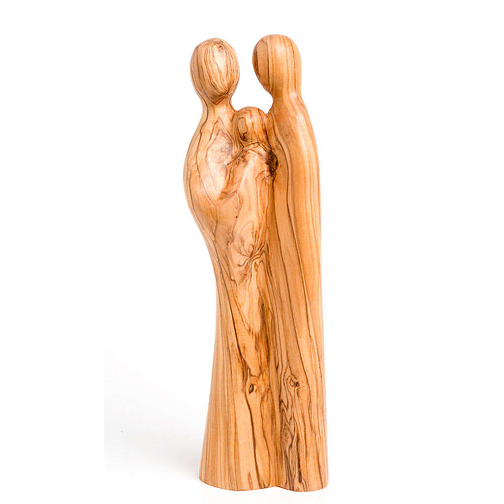 Holy Family in olive wood 4