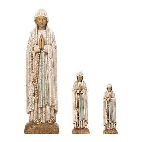 Statues en bois peint: Vierge de Lourdes