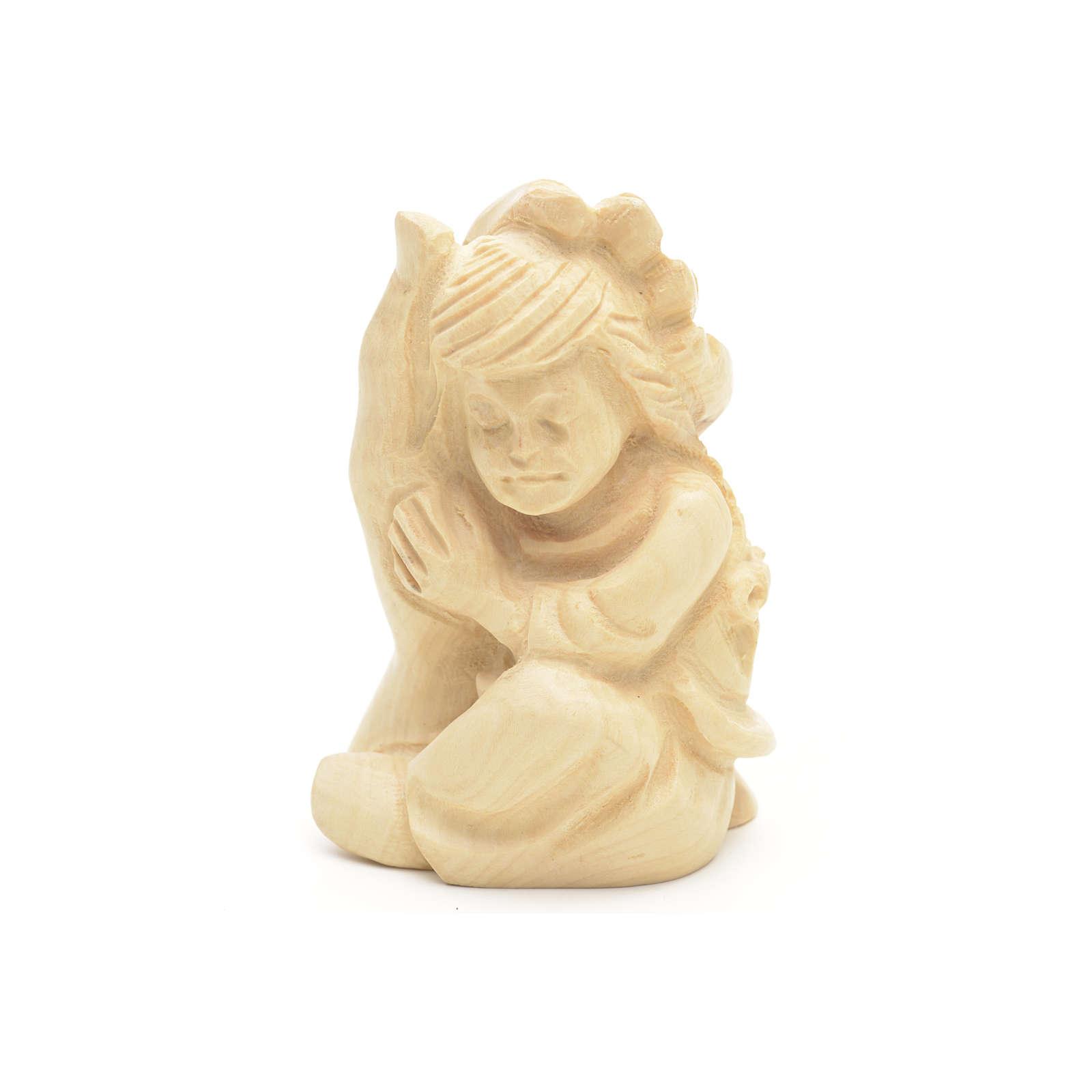 Mano di Dio con Bambina legno olivo 4