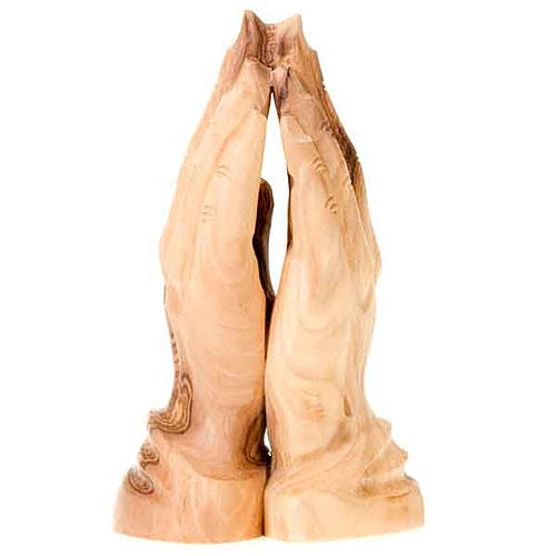 Joined hands in olive wood 2