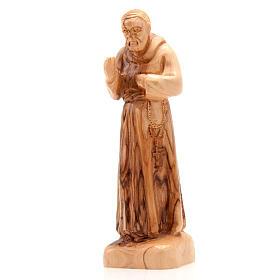 Imágenes de madera natural: Estatuas Padre Pío de Pietralcina
