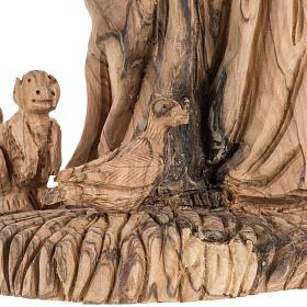Estatua de San Francisco madera de olivo 30 cm s7