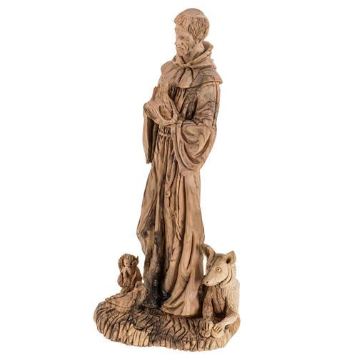 Estatua de San Francisco madera de olivo 30 cm 8
