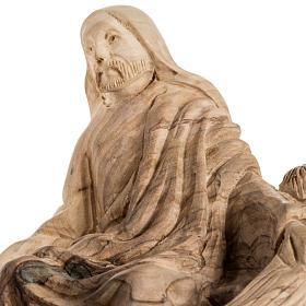 Statua Pesca Miracolosa legno olivo Terra Santa s5