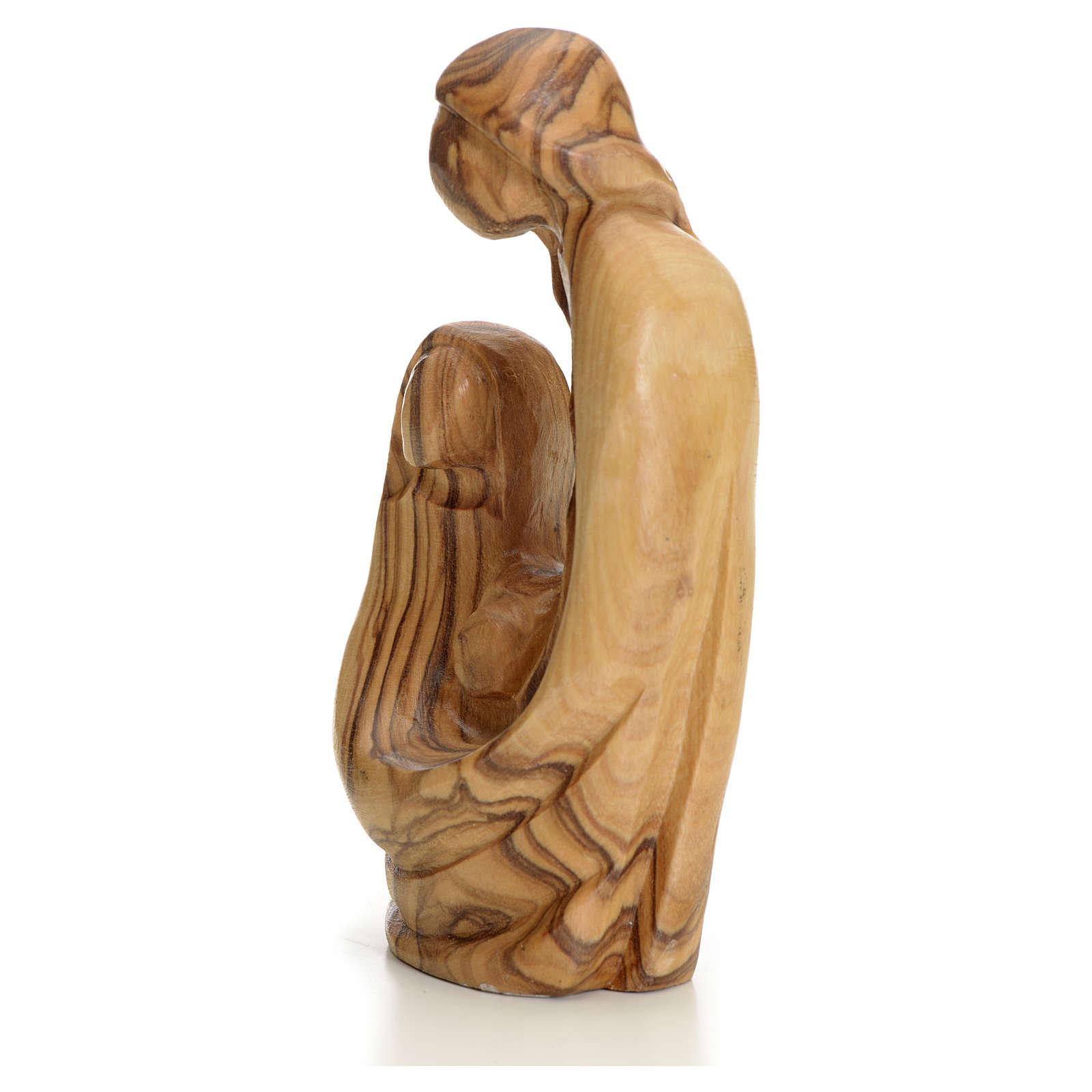 Sainte Famille stylisée bois d'olivier Terre Sainte 4