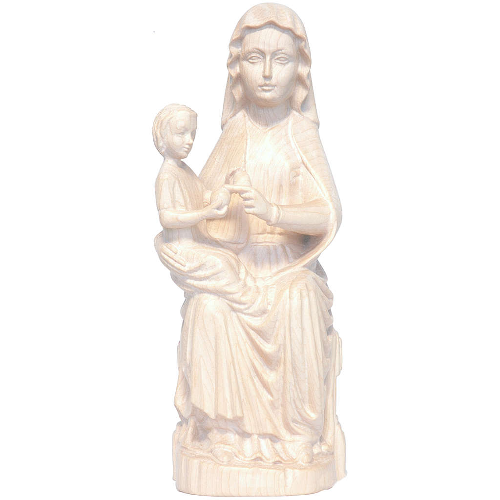 Our Lady of Mariazell in natural waxed Valgardena wood 4