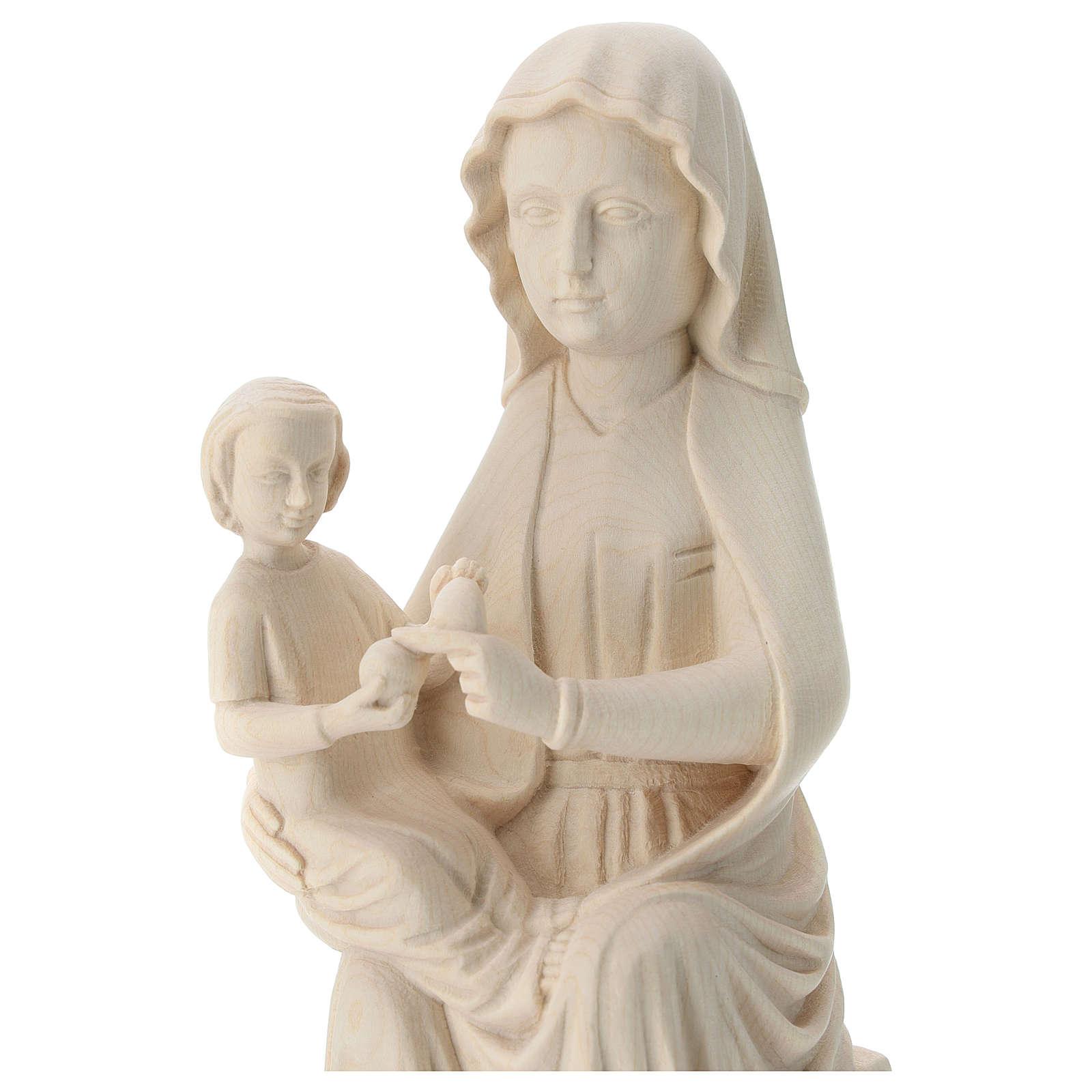 Virgen Mariazell de madera natural de la Val Gardena 4