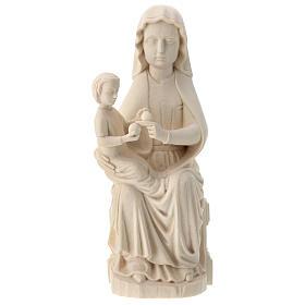 Imágenes de madera natural: Virgen Mariazell de madera natural de la Val Gardena