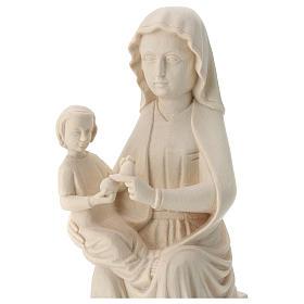 Virgen Mariazell de madera natural de la Val Gardena s2