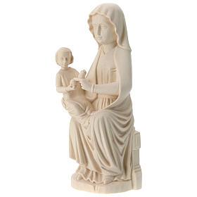 Virgen Mariazell de madera natural de la Val Gardena s3