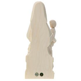 Virgen Mariazell de madera natural de la Val Gardena s5