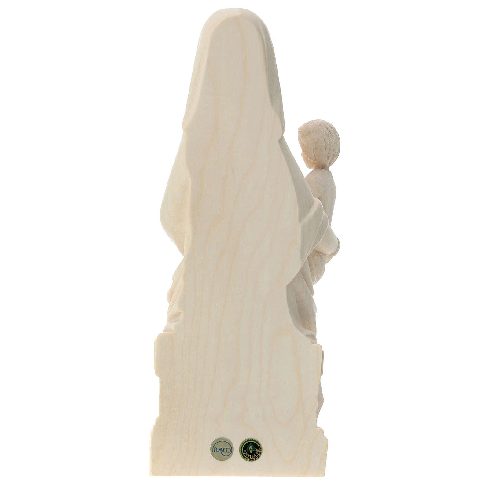 Madonna Mariazell legno Valgardena naturale 4