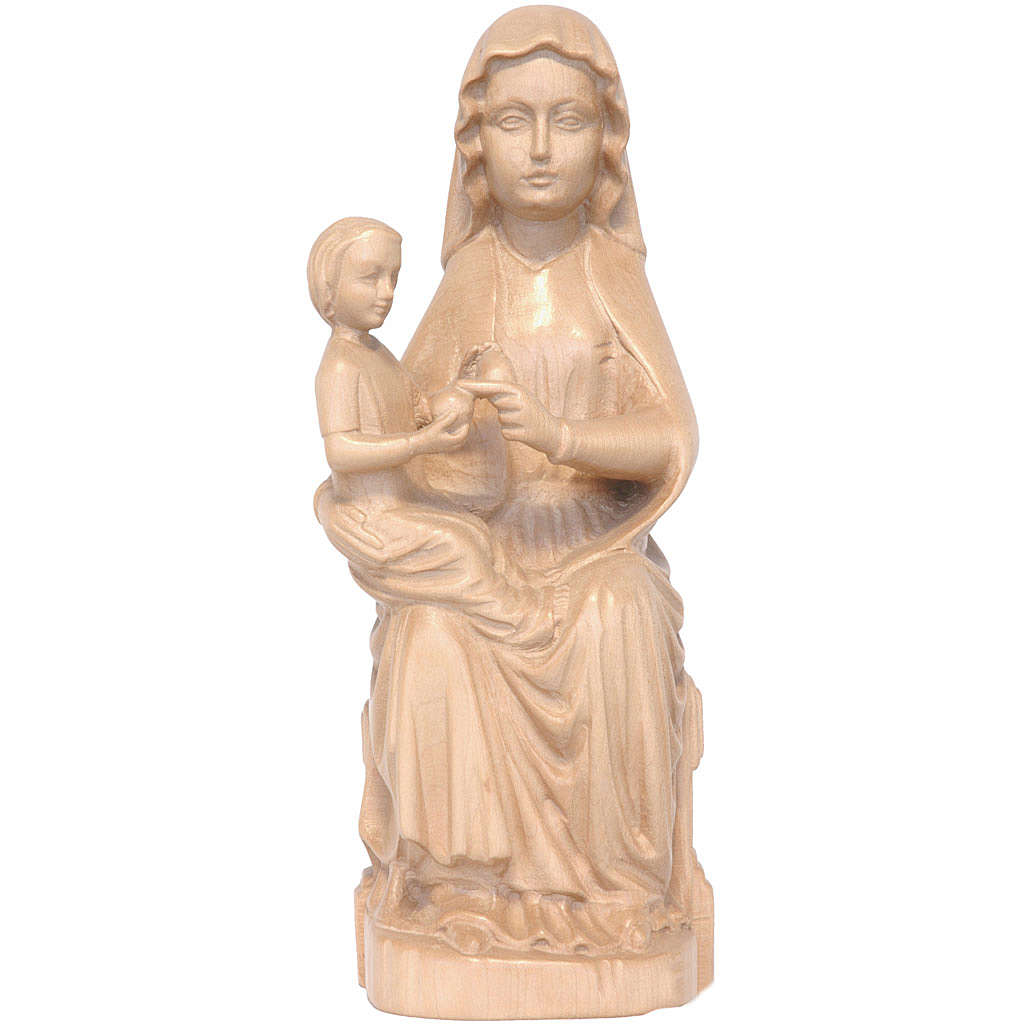 Our Lady of Mariazell in patinated Valgardena wood 4