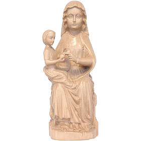 Our Lady of Mariazell in patinated Valgardena wood s1