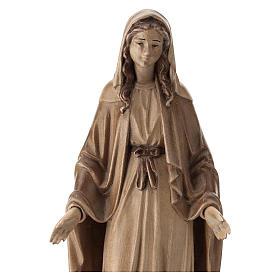 Virgen Inmaculada de madera multi-patinada de la Val Gardena s2