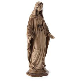 Virgen Inmaculada de madera multi-patinada de la Val Gardena s4
