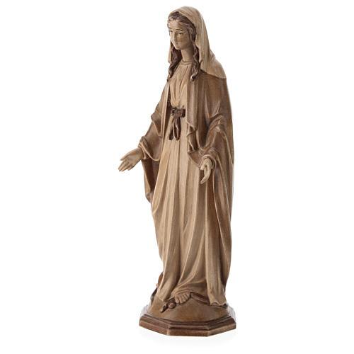 Virgen Inmaculada de madera multi-patinada de la Val Gardena 3