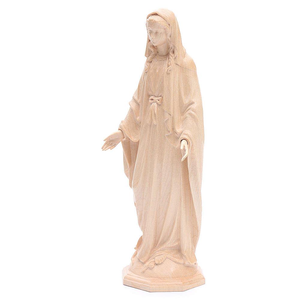Madonna Immacolata legno Valgardena naturale cerato 4