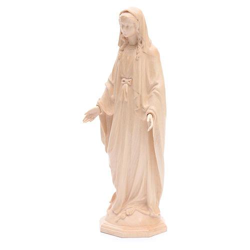 Madonna Immacolata legno Valgardena naturale cerato 2