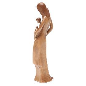 Virgen con niño y paloma de madera multi-patinada de la Val Gardena s3