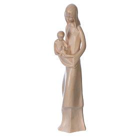 Vierge Enfant et colombe naturel ciré Valgardena s2