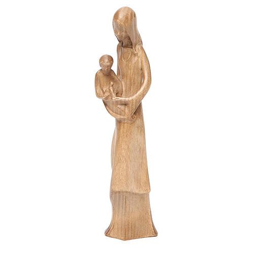 Madonna bimbo colomba legno Valgardena patinato 2
