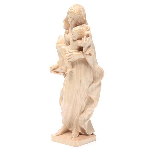 Vierge Enfant baroque naturel ciré Valgardena 2