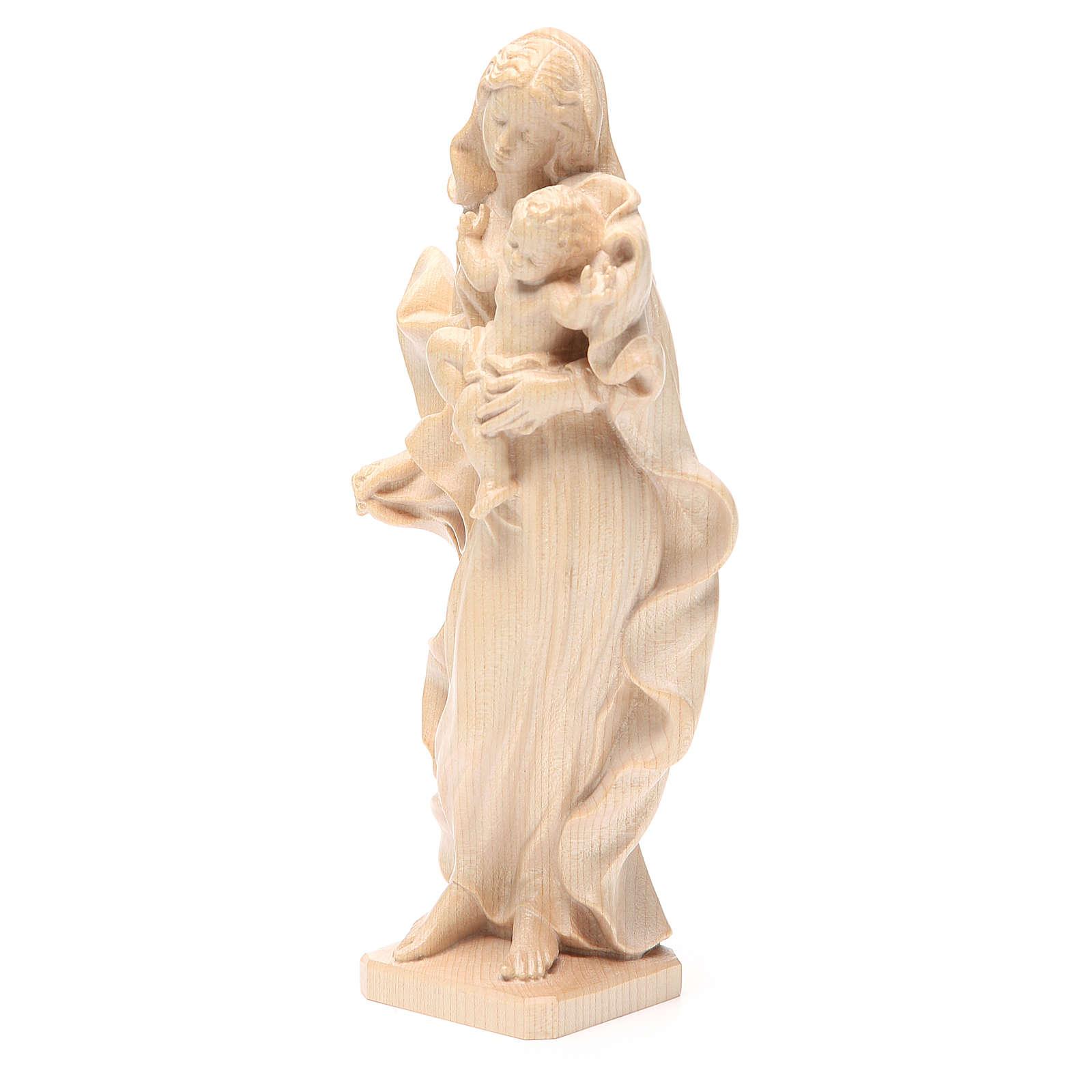Madonna bimbo stile barocco legno Valgardena naturale cerato 4