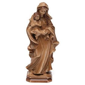 Imágenes de madera natural: Virgen de estilo barroco de madera multi-patinada de la Val Gardena