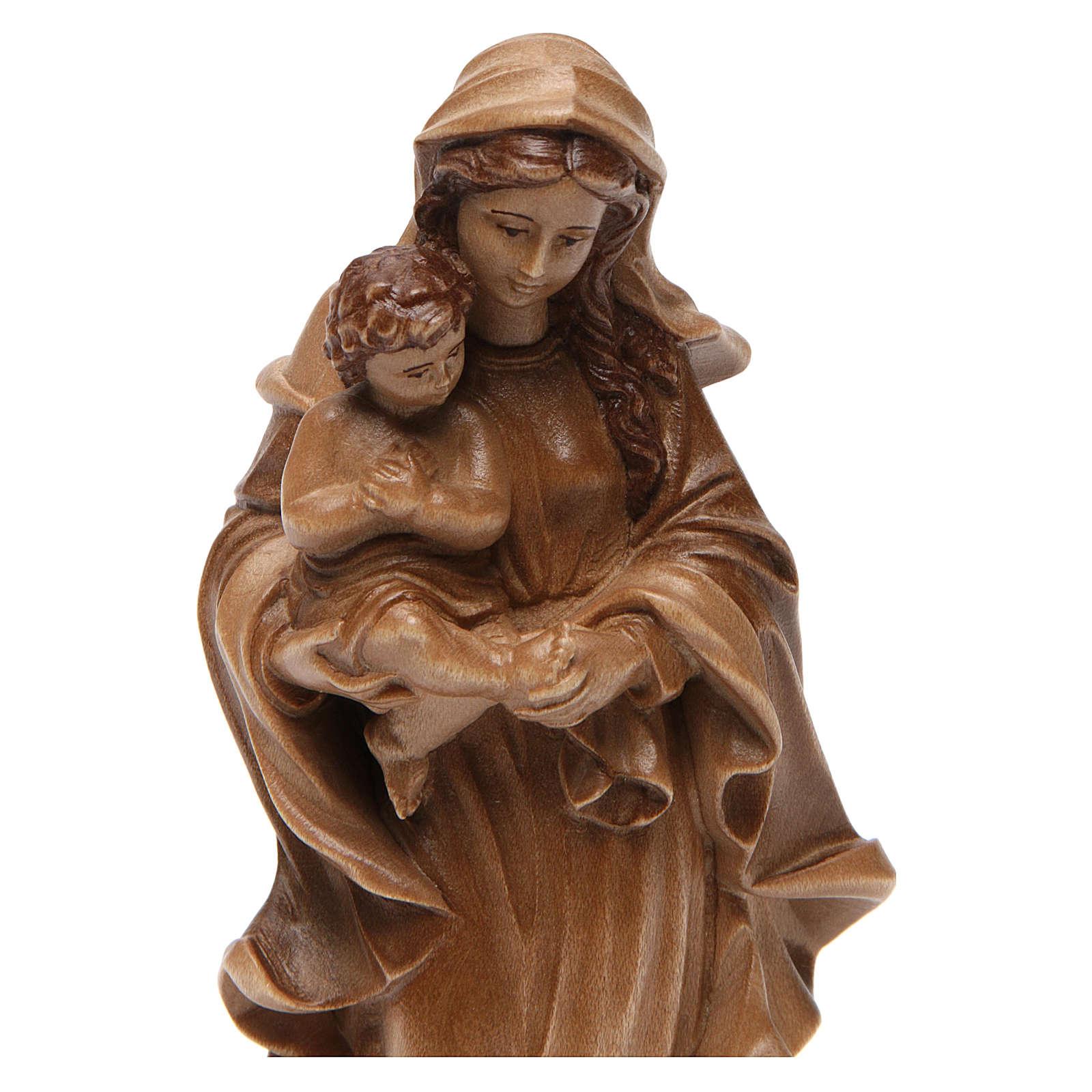 Madonna stile barocco legno Valgardena multipatinato 4