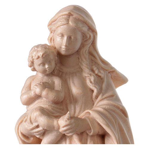Virgin Mary statue in Valgardena wood, Baroque style, natural fi 2