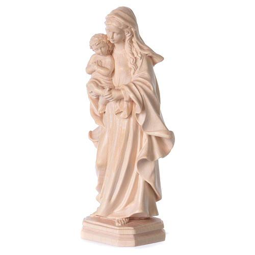 Madonna stile barocco legno Valgardena naturale 3
