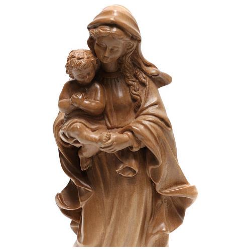 Virgem Maria estilo barroco madeira Val Gardena patinada 2