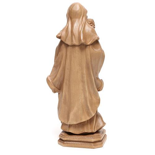 Virgem Maria estilo barroco madeira Val Gardena patinada 5