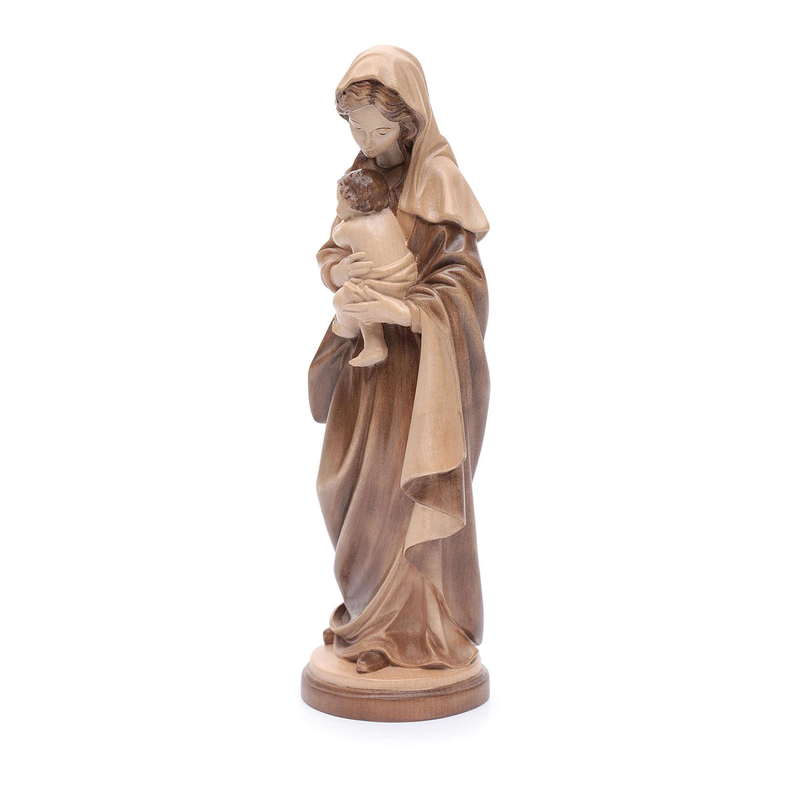 Virgen con Niño Madera Valgardena Multi-Patinada 4