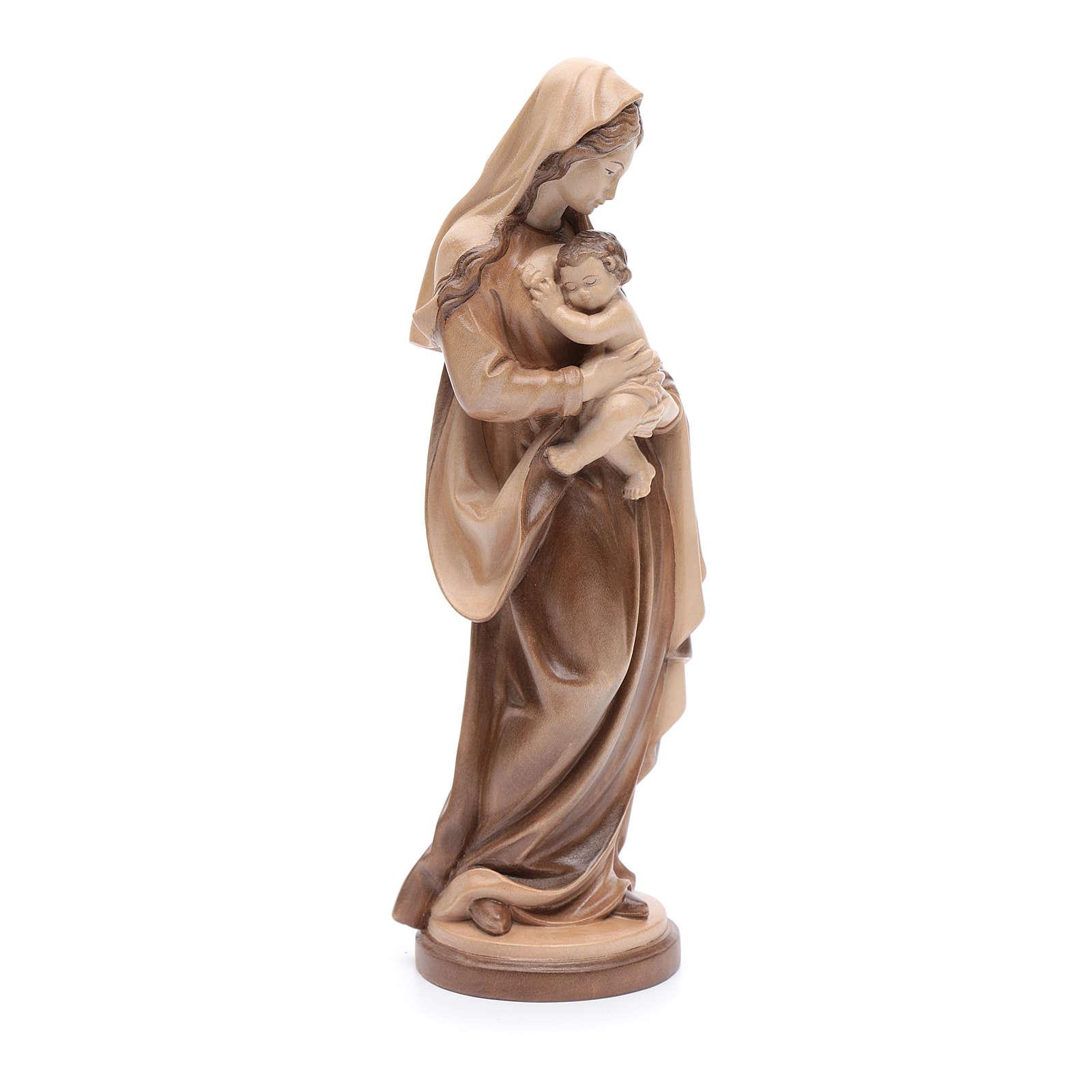 Madonna con bimbo legno Valgardena multipatinato 4