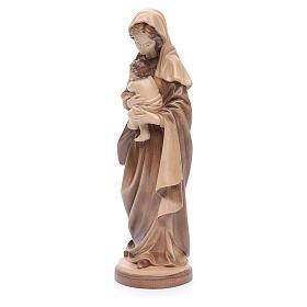 Madonna con bimbo legno Valgardena multipatinato s2