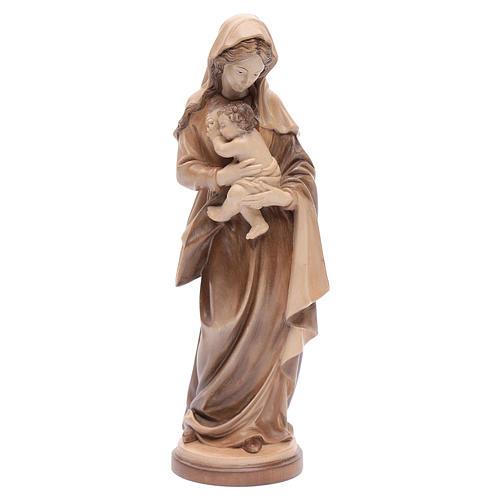Madonna con bimbo legno Valgardena multipatinato 1