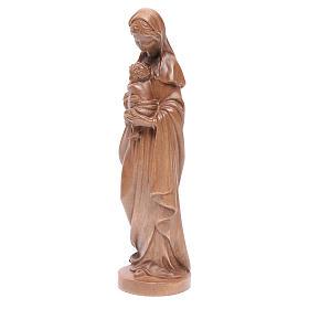 Madonna con bimbo legno Valgardena patinato s2