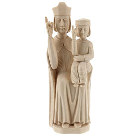 Mary with baby statue in Valgardena wood 28cm romanesque style, s1