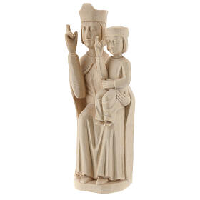 Mary with baby statue in Valgardena wood 28cm romanesque style, s3