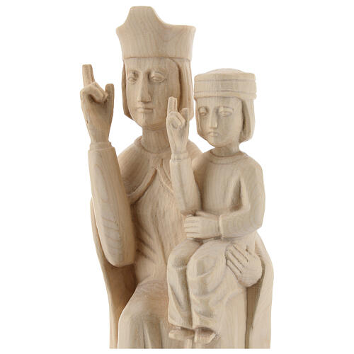 Mary with baby statue in Valgardena wood 28cm romanesque style, 2