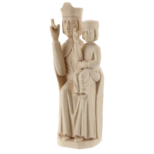 Mary with baby statue in Valgardena wood 28cm romanesque style, 3