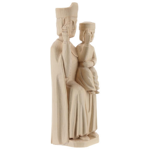 Mary with baby statue in Valgardena wood 28cm romanesque style, 5