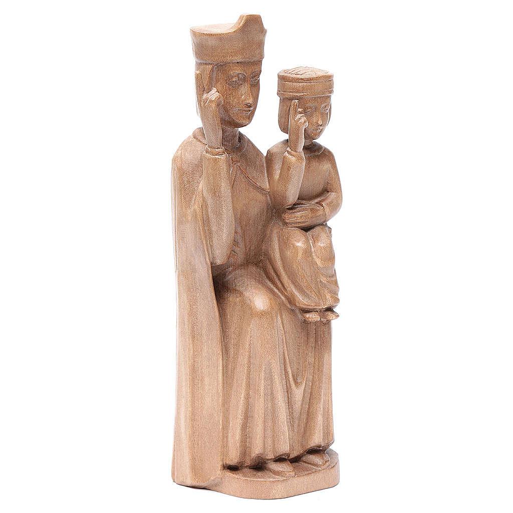 Madonna bimbo stile romanico 28cm legno Valgardena patinato 4