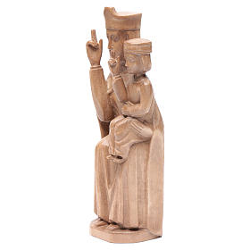 Madonna bimbo stile romanico 28cm legno Valgardena patinato s2