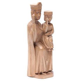 Madonna bimbo stile romanico 28cm legno Valgardena patinato s3